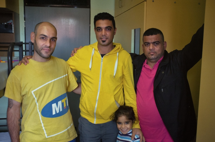 Refugee family from Iraq, in Berlin, Germany