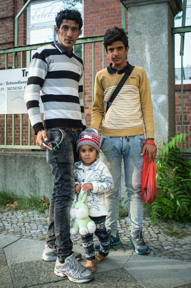 A family from Syria, refugees, in Berlin, Germany
