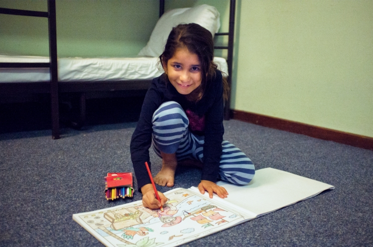 A young Iraqi girl, a refugee, in Berlin, Germany