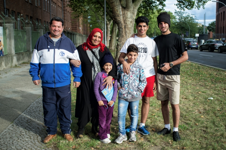 Refugee family from Iraq in Berlin, Germany (The Majid family)