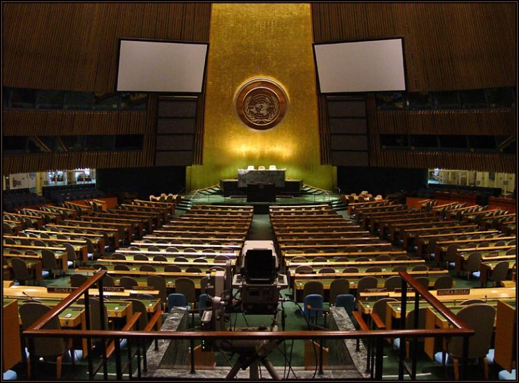 UN general assembly where summit on migrants and refugees took place in September 2016, New York